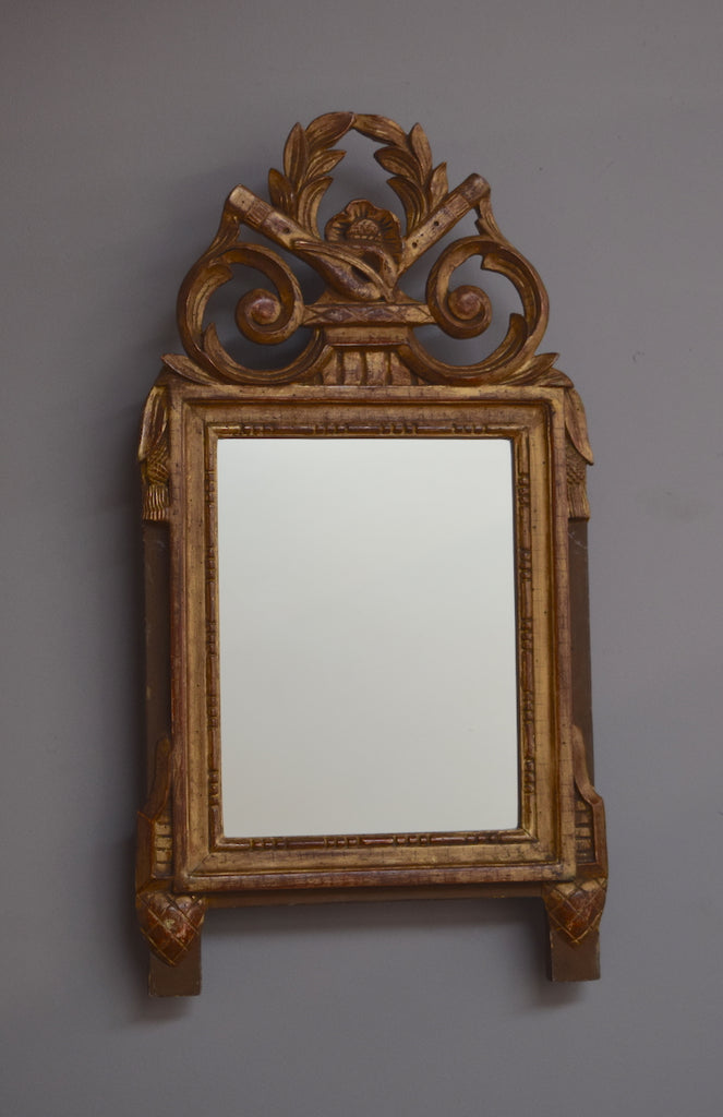 Early 19th Century French Gilt Crested Mirror