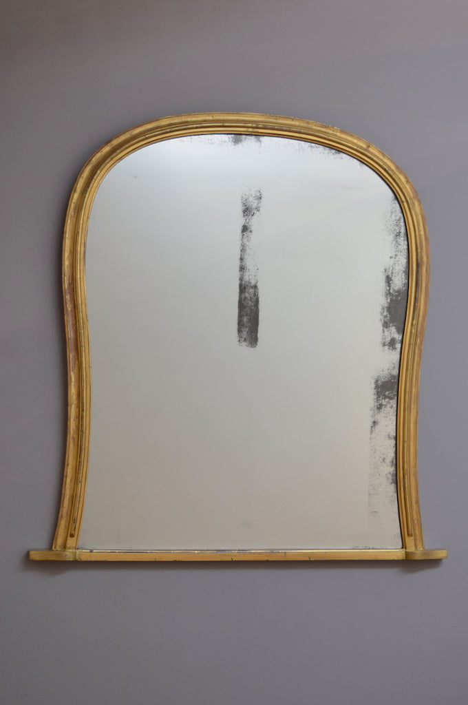 Mid 19th Century English Gilt Overmantel Mirror