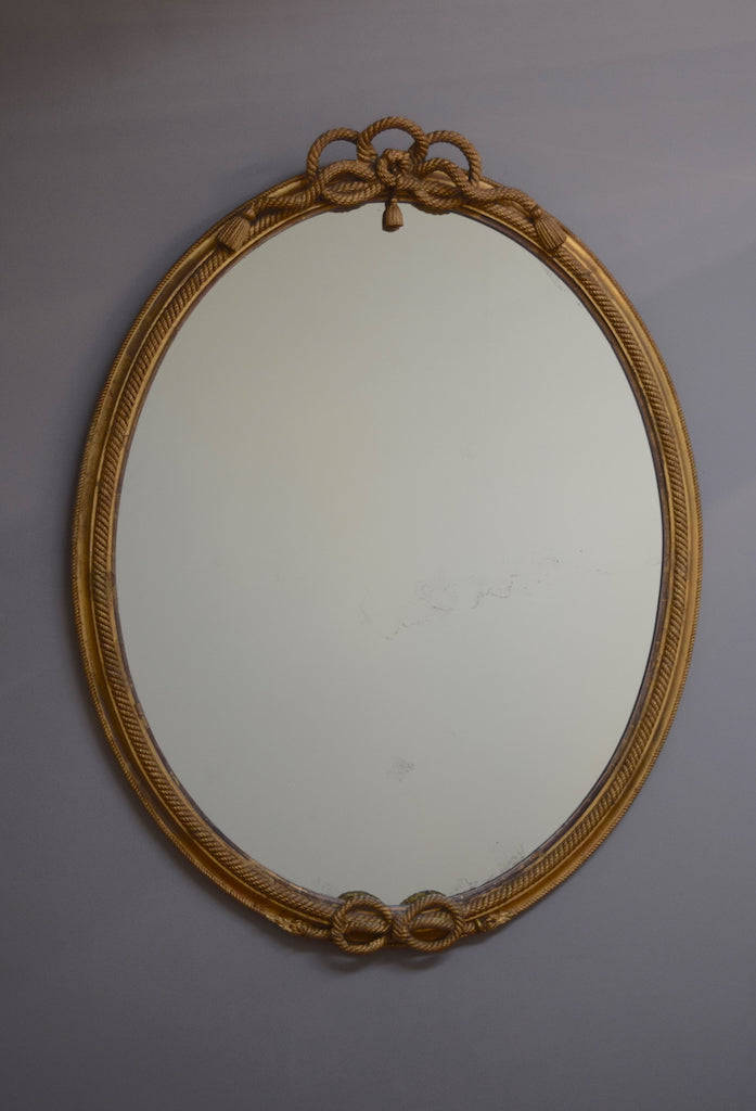 Large Mid 19th Century English Oval Mirror