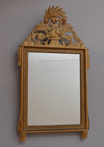 Early 19th Century Gilt Crested French Mirror