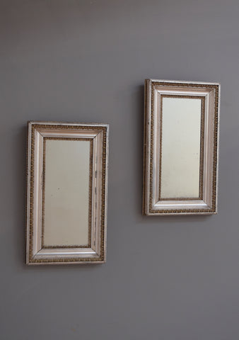 Early 20th Century Pair of Silver Gilt English Mirrors