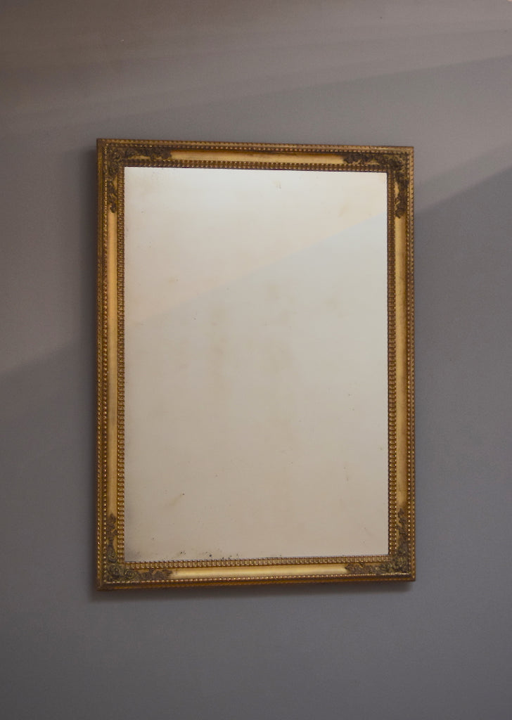 French Gilt & Gesso Mirror