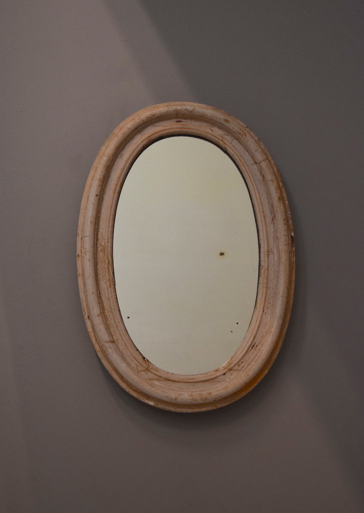 English Scrubbed Gesso Mirror