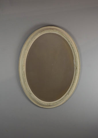 English Gesso Oval Mirror