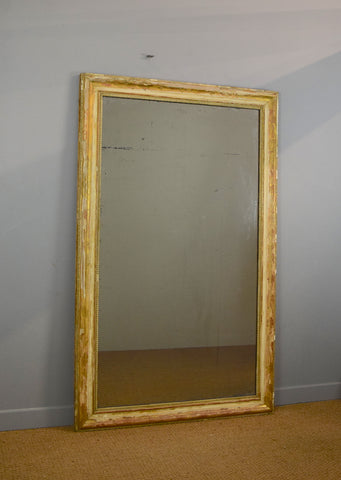 Large Distressed French Mirror