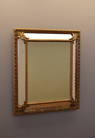 Late 20th Century French Gilt Cushion Mirror