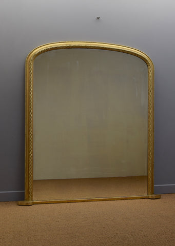 Large Gilt Overmantel Mirror