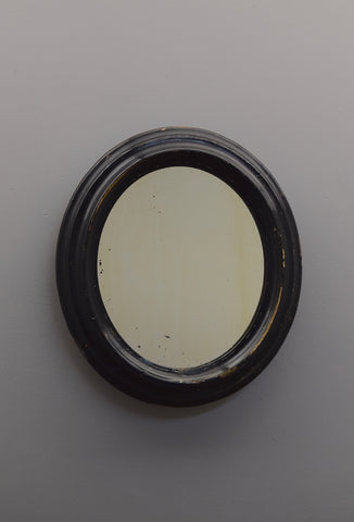 Late 19th Century English Ebonised Oval Mirror