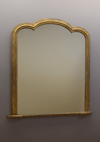 Late 19th Century English Giltwood Overmantel Mirror