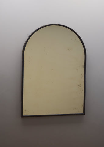 Ebonised Arched Top Mirror