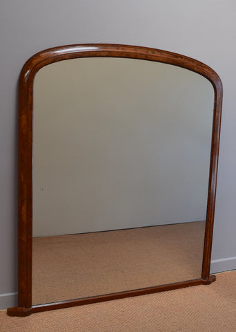 Mid 19th Century Walnut & Rosewood Overmantel Mirror