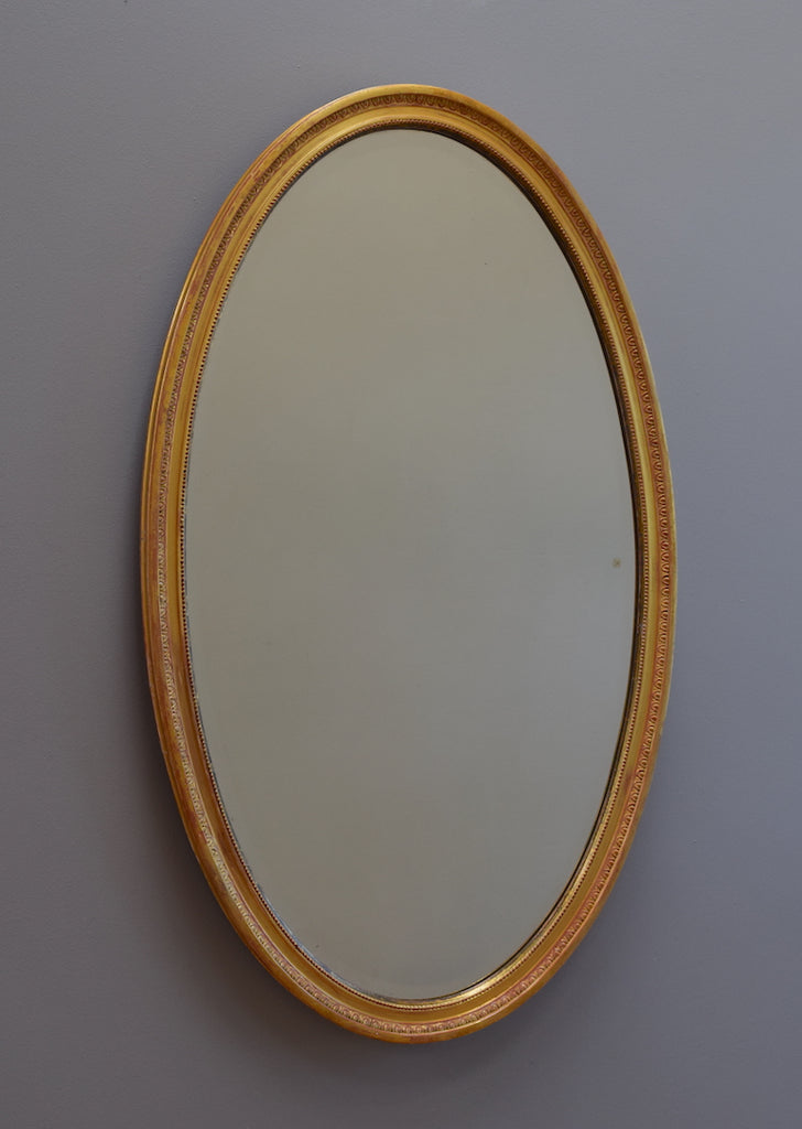 Large Gilt Oval Mirror