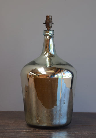 Tapered Silvered Demijohn Lamp