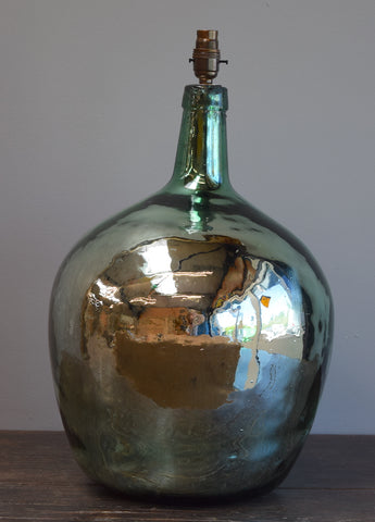 Rounded Silvered Demijohn Lamp