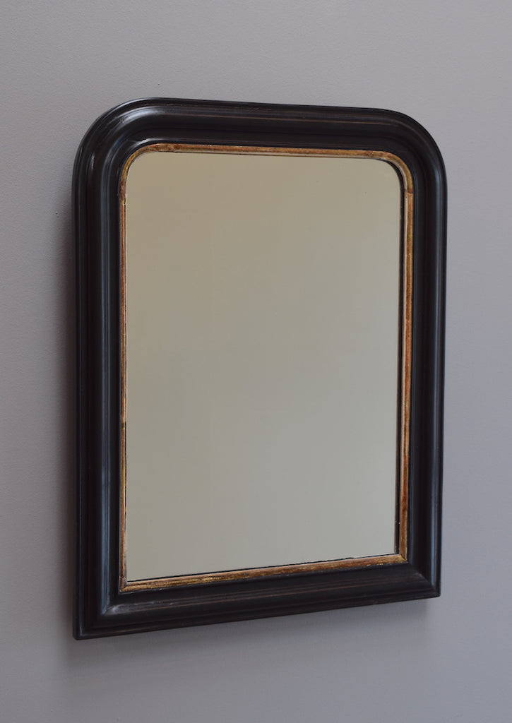 Gilt and Ebonised Mirror