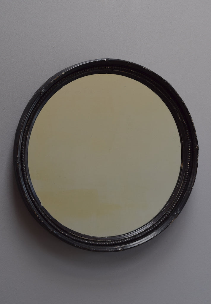 Ebonised Circular Mirror