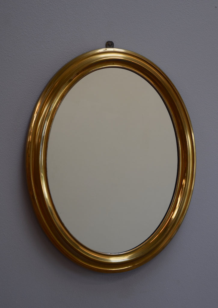 Brass Oval Mirror