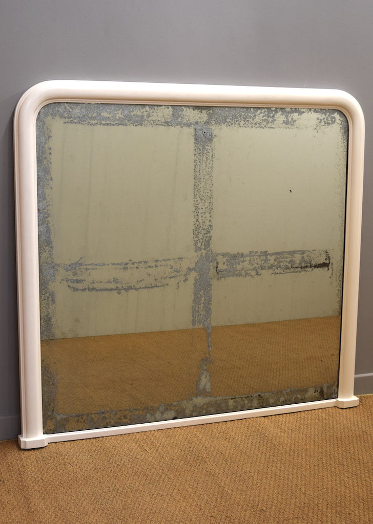 French Gesso Overmantel Mirror