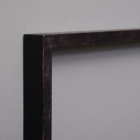 Narrow Flat Frame Moulding with Bronzed Painted Finish | Rough Old Glass