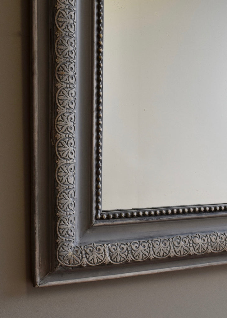 French Mirror with Gesso & Painted Surface