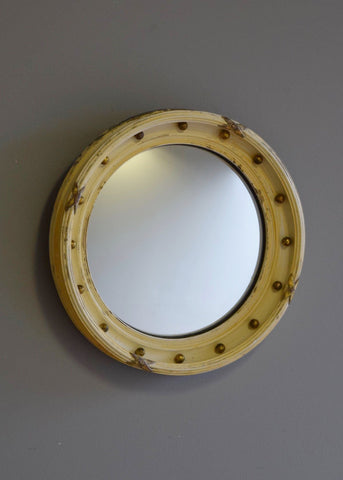 English Convex Mirror with Brass Balls