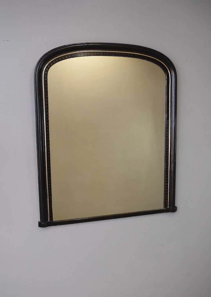 English Ebonised Overmantel Mirror - SOLD