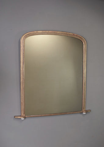 Late 19th Century Gold Gilt English Overmantel Mirror