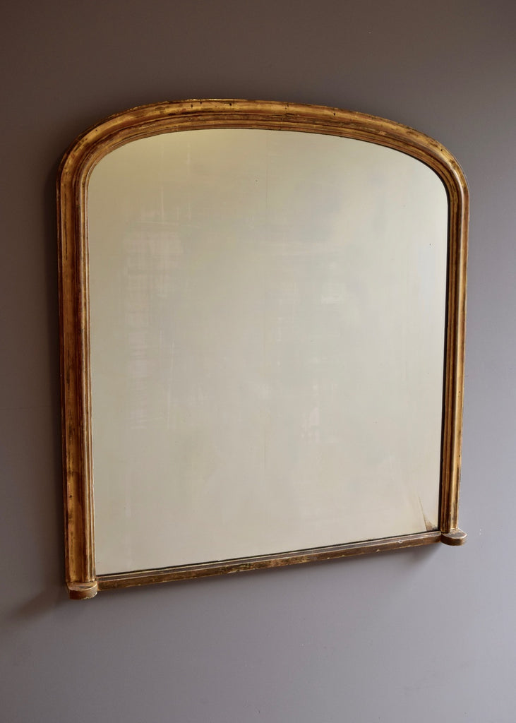 English Gold Gilt Overmantel Mirror