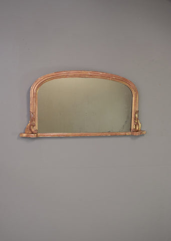 Late 19th Century Original Gold Gilt English Overmantel Mirror
