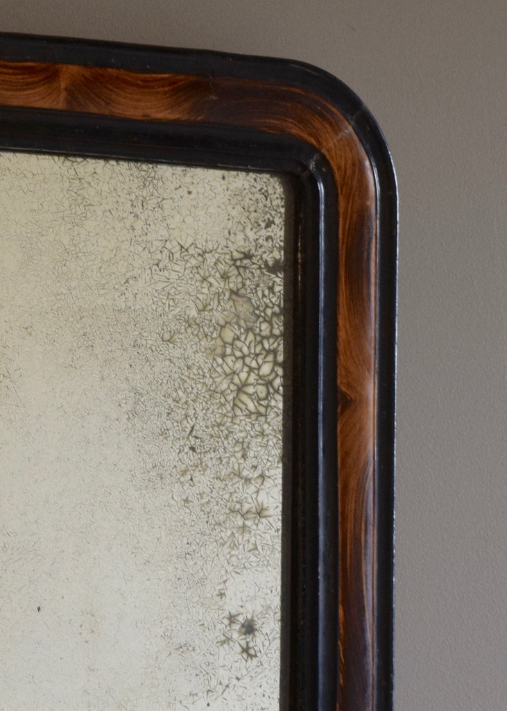 Faux Grained Mirror with Stunning Original Glass