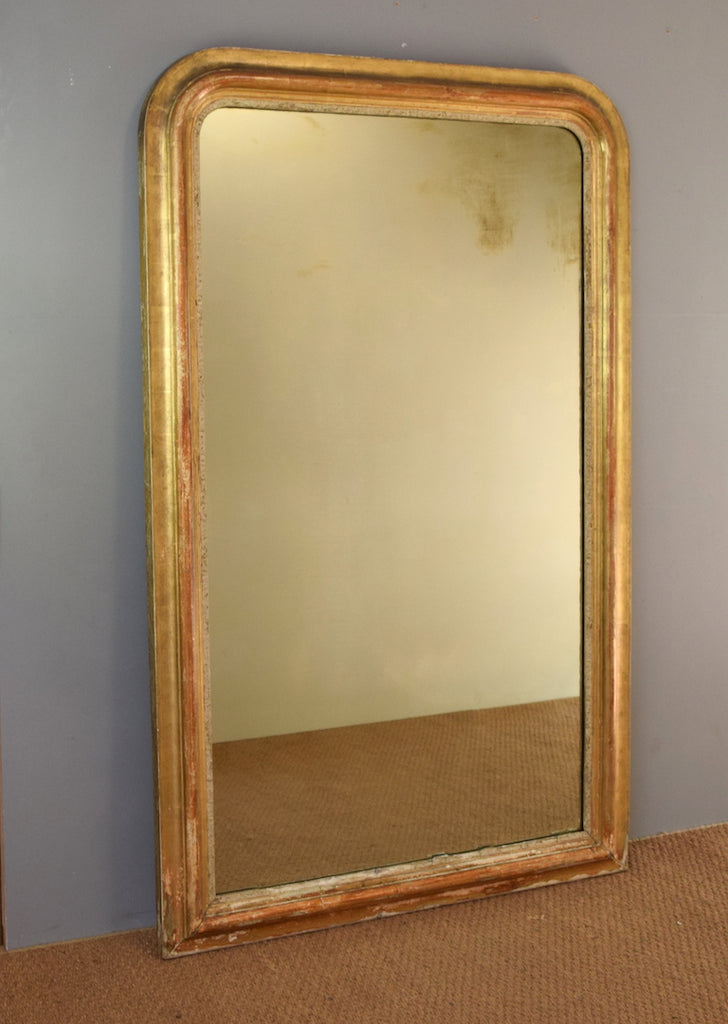 French gilt mirror rough old glass for French mirror