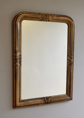 French Faux Grained Mirror