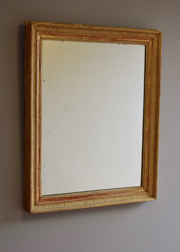 Late 19th Century French Gilt & Gesso Mirror