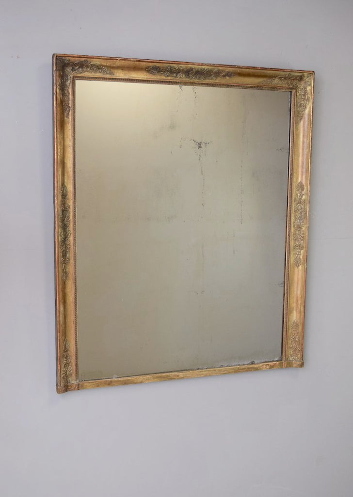 Mid 19th Century French Overmantel Mirror