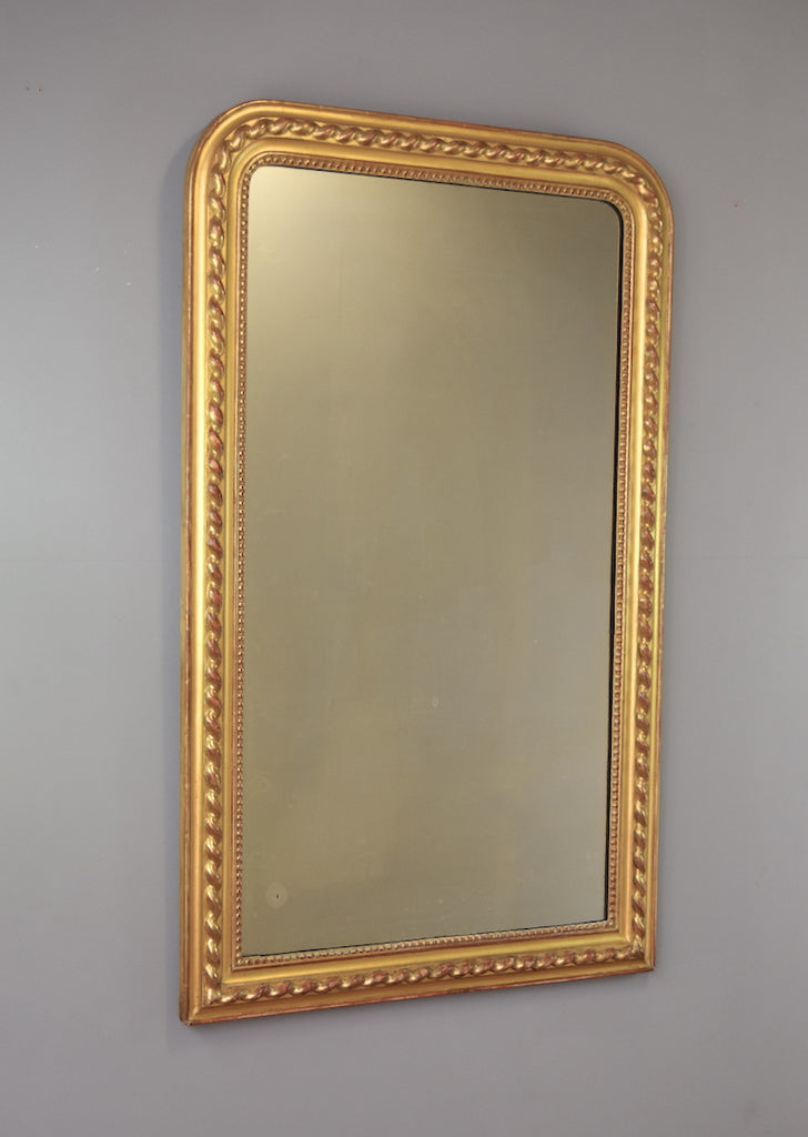 French Piecrust Mirror