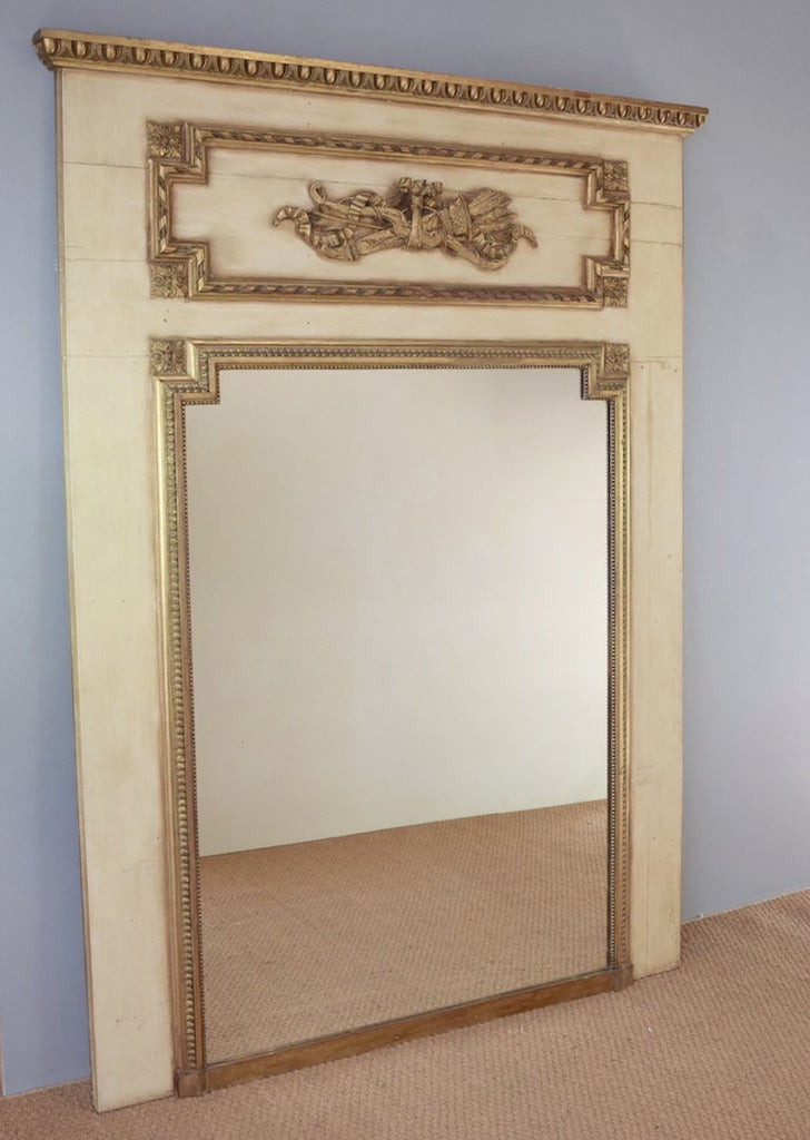 Early 20th Century French Trumeau Mirror