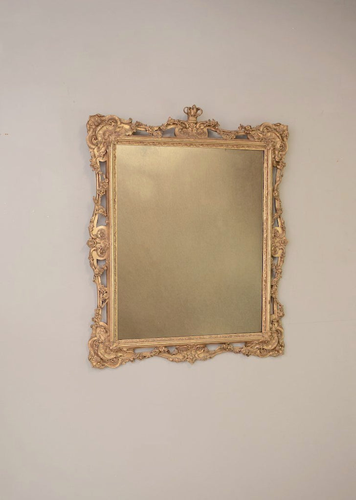 Crested Gold Gilt Mirror
