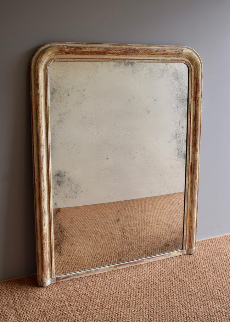 Large Distressed French Louis Phillipe Mirror - SOLD