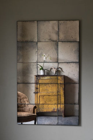 Panelled Antiqued Mirror | Rough Old Glass