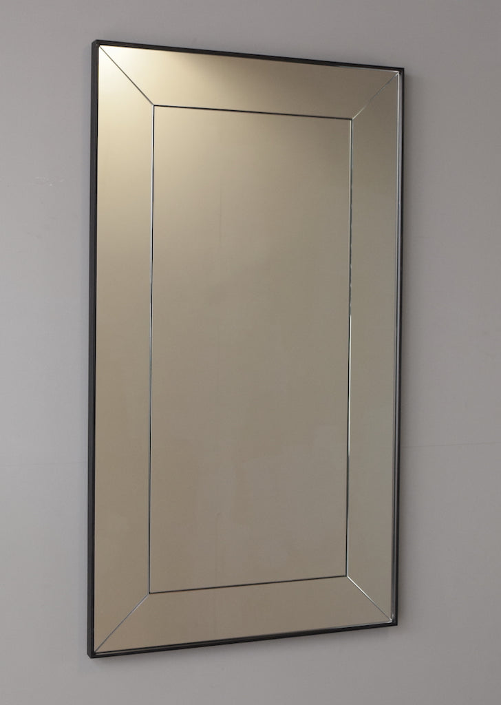Mitred Panelled Tray Frame Antiqued Mirror