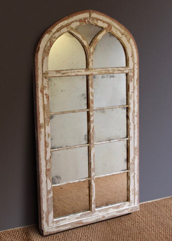 Large Gothic Arched Window Mirror