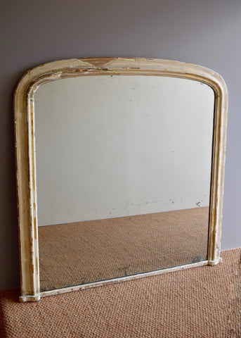 Large French Painted Mirror