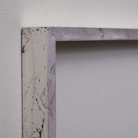 Silver Gilt Narrow Flat Frame Moulding | Rough Old Glass