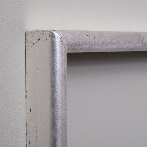 Silver Gilt Wide Hockey Frame Moulding | Rough Old Glass
