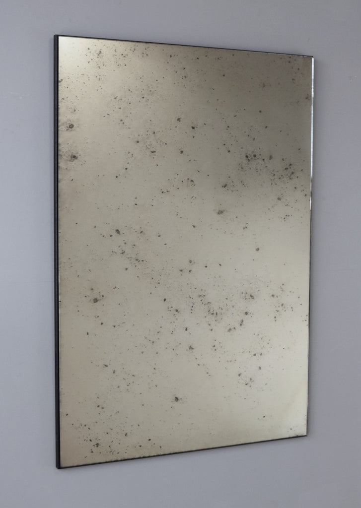 Single Panel Frameless Antiqued Mirror