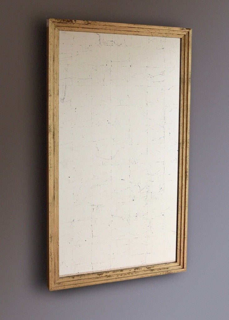 Verre Eglomise Mirror with Stepped Frame