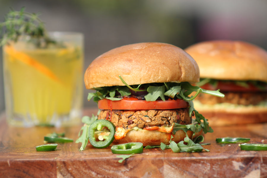 3 Bean Chipotle Burgers