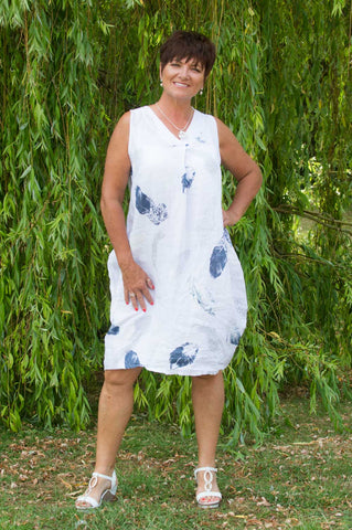 White Feather Linen Dress £36
