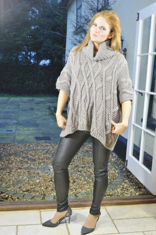 ladies knitwear cable jumper