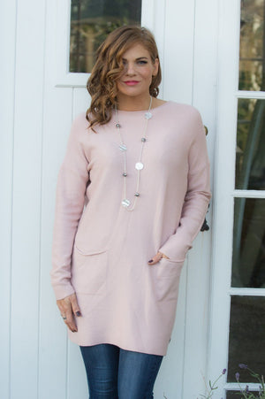 Blush Pink Two Pocket Jumper - Mandy's Heaven